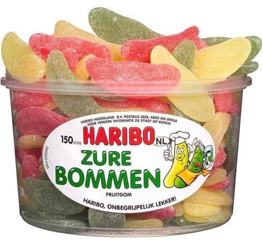 150 stuks HARIBO Zure Bommen