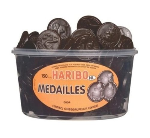 Haribo 150 stuks HARIBO Drop Medailles
