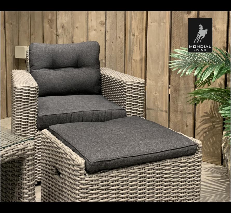 6-persoons Loungeset Garonne Blended Grey | Incl. tafel