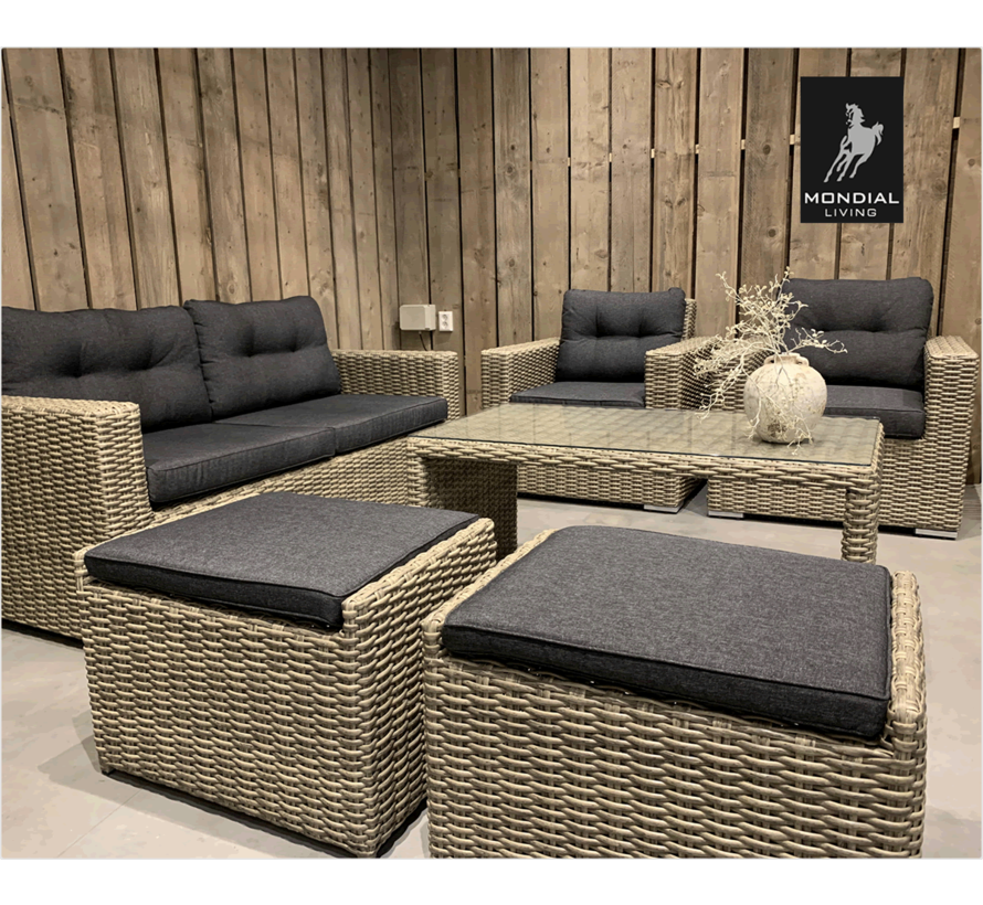 6-persoons Loungeset Garonne Forest Grey   Incl. tafel