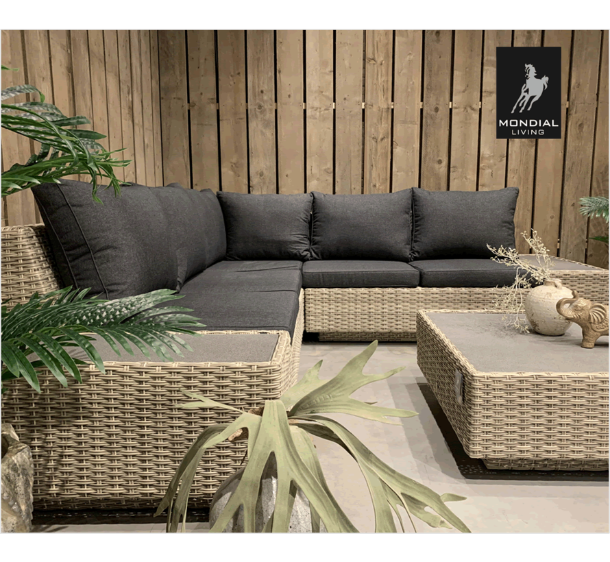 5-persoons Loungeset Nogaro | Hoekset incl. tafel