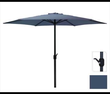 Parasol Donkerblauw Ø300 cm voor Tuin en Terras | met handig opdraaisysteem