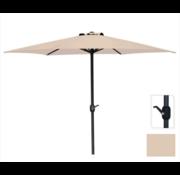 Parasol Creme - Aluminum Standard Opdraaimechanisme - 3 Meter