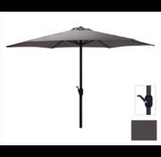 Antraciet Parasol voor Tuin En Terras   300 cm met Handig Opdraaisysteem