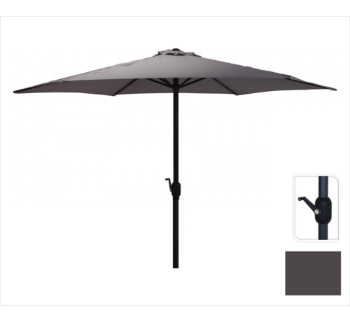 Parasol Antraciet Ø300 cm voor Tuin en Terras   met handig opdraaisysteem