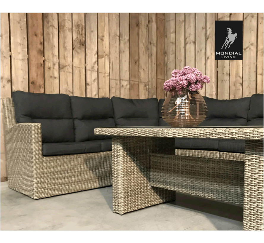 6-persoons Loungeset Merano Forest Grey | Hoekset incl. tafel