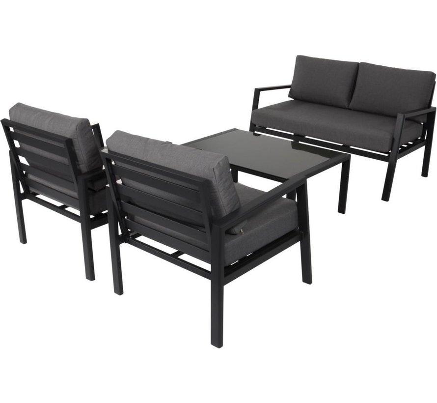 Loungeset Brooklyn Lesli Living   2-persoons bankje met 2 stoelen en tafel
