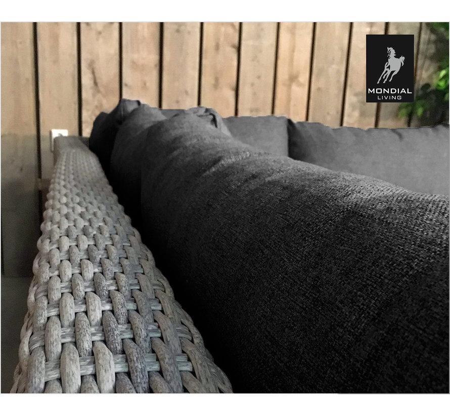 7-persoons Loungeset Colorado Blended Grey met antraciet kussens