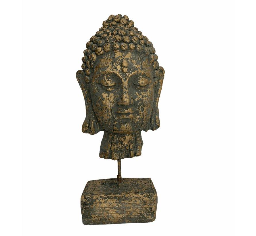 Buddha-beeld  Groen & Goud 39 cm