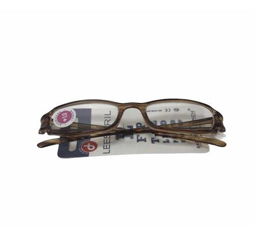 Leesbril Zwart-Bruin   Leessterkte 1.00