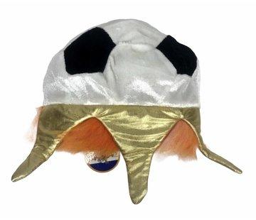 Orange Fußball-Krone / Hut | Party für Ek Football 2020