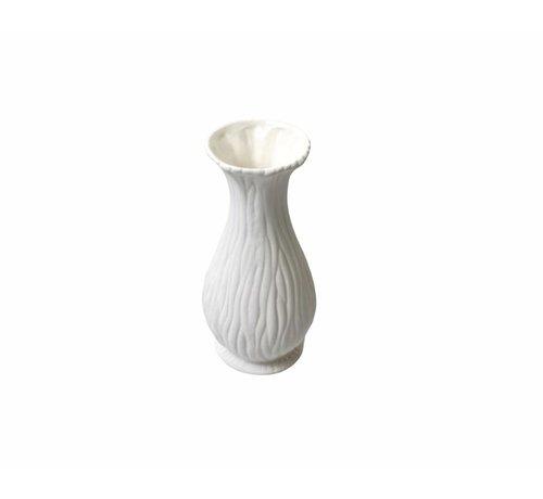 Blumenvase - weiß - 16 cm