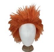 Orange Wig   spiky