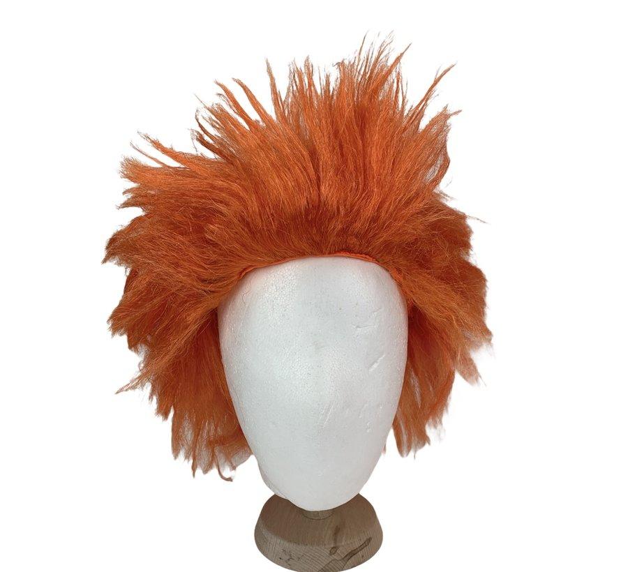 Oranje Pruik | Spiky