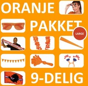 Oranje Feestpakket Large | 9 Feestartikelen voor EK Voetbal 2021