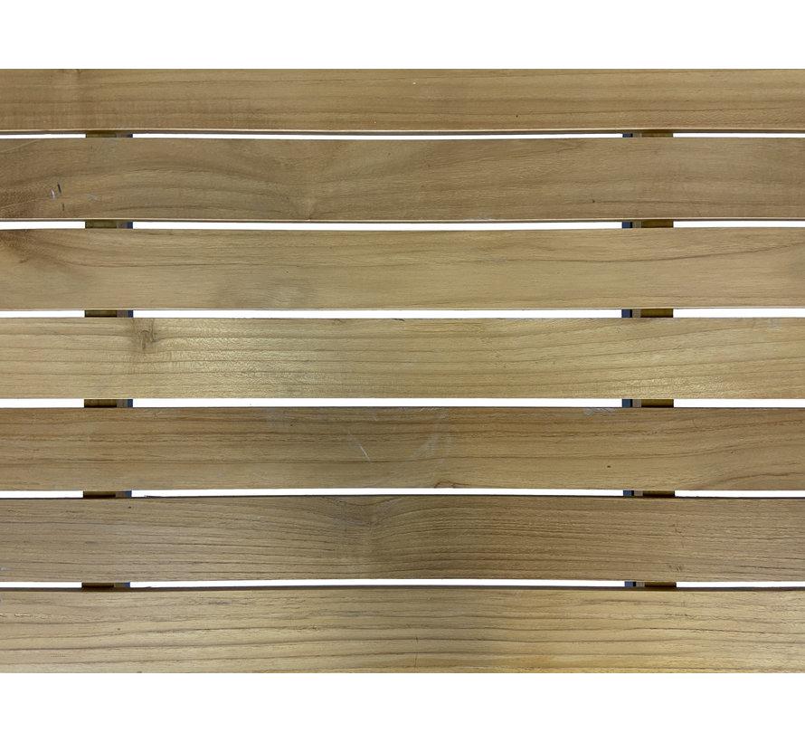 4-persoons Diningtafel Palazzo   Teak houten tafelblad