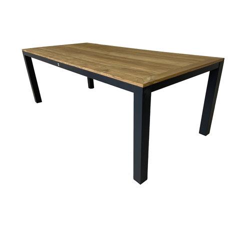 Mondial Living 6-persoons Diningtafel Palazzo 220 cm | Teak houten tafelblad