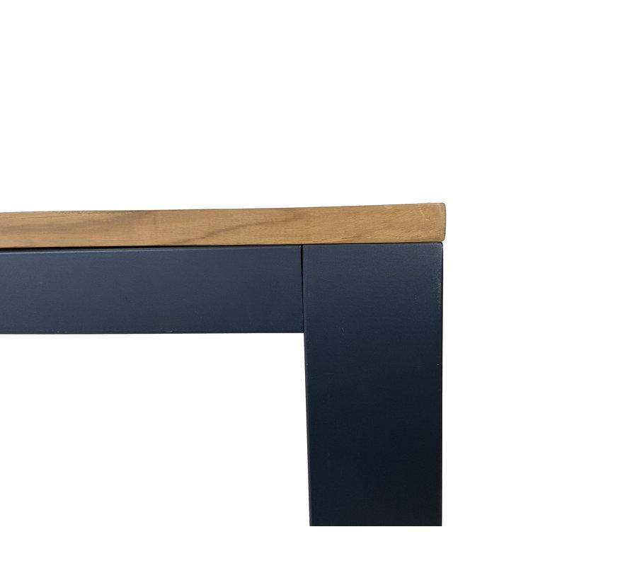 6-persoons Diningtafel Palazzo 220 cm | Teak houten tafelblad