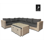 Mondial Living 8-persoons Loungeset Formentera Ash Grey | Hoekset