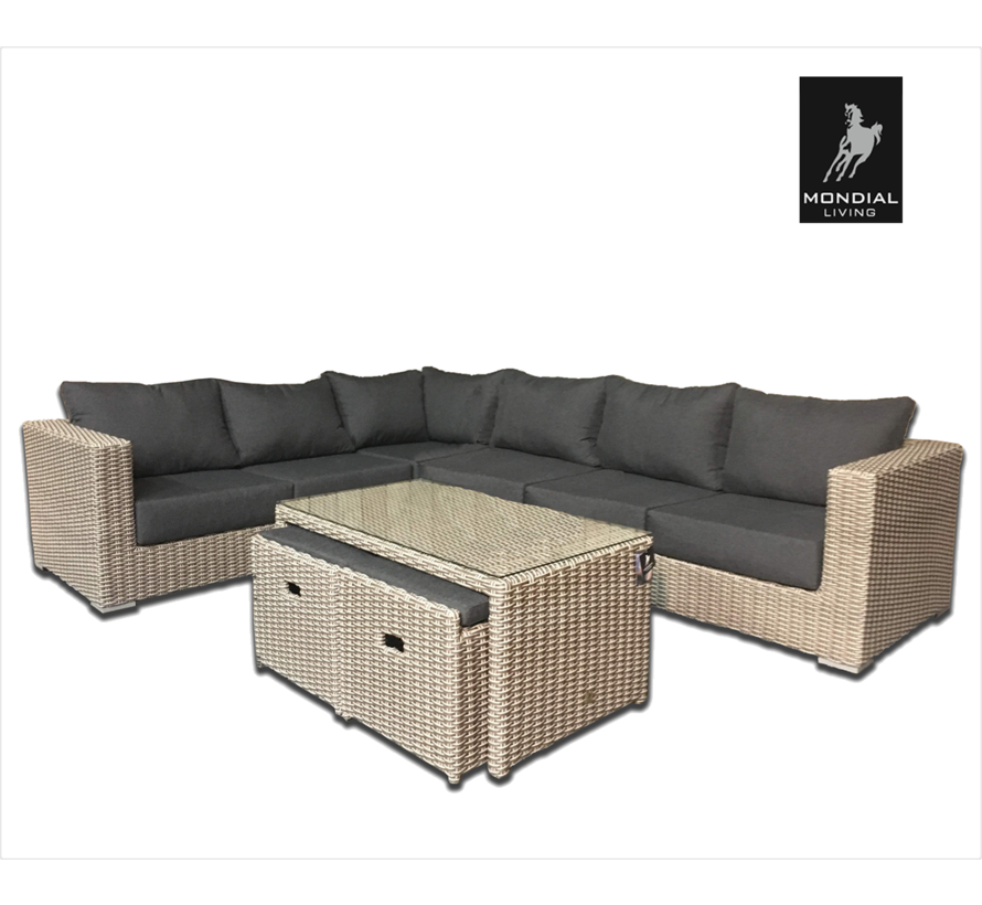 8-persoons Loungeset Formentera Ash Grey | Hoekset