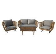 Mondial Living Loungeset Mason Bamboe | Incl. tafel