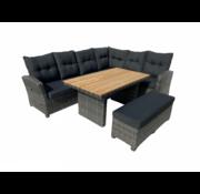 Mondial Living Loungeset Laguna Falcon Grey - Hoekset incl. tafel
