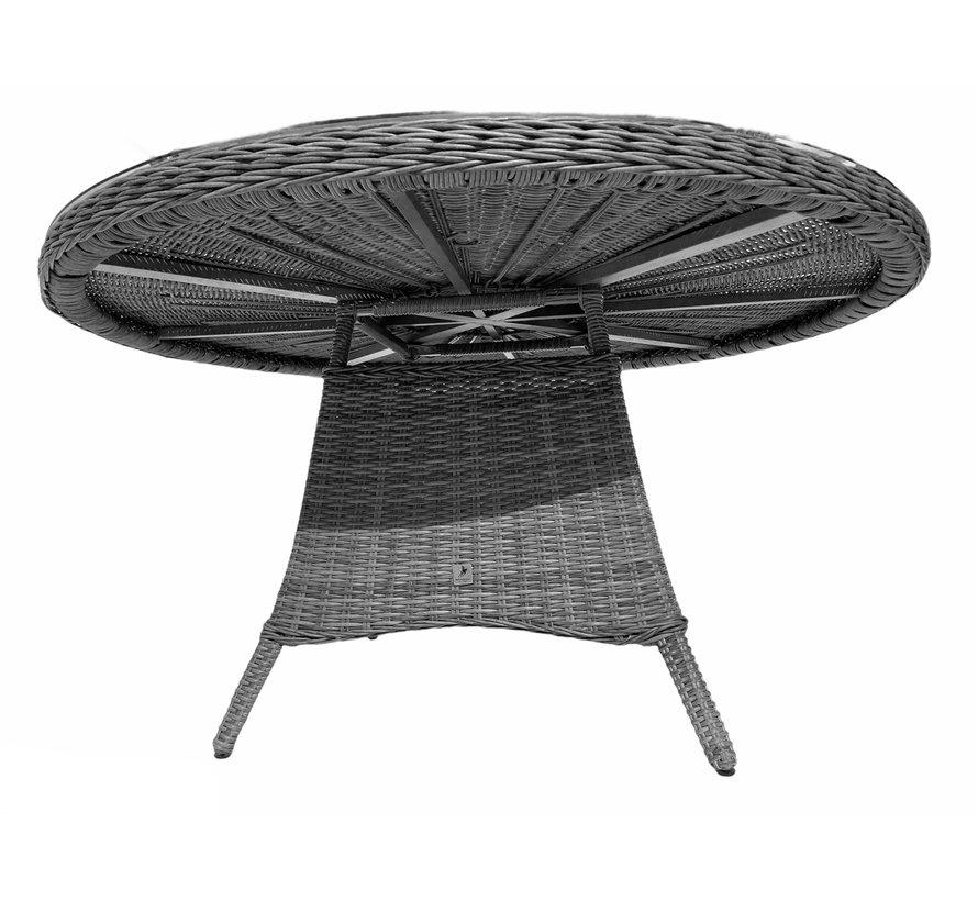 Tuintafel Paris Blended Grey ⌀150 cm | Glazen tafelblad