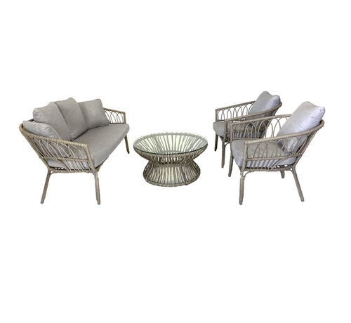 Mondial Living 4-persoons Loungeset Parker | Incl. tafel