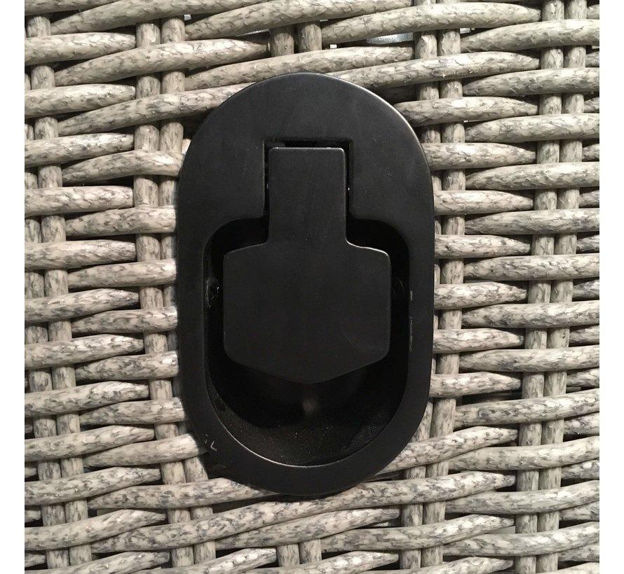 Loungeset / Sofaset Canberry Blended Grey voor 5 personen | met verstelbare rugleuning