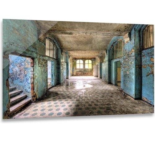 ter Halle® Glasschilderij 110 x 160 cm | Hal Urban Blue