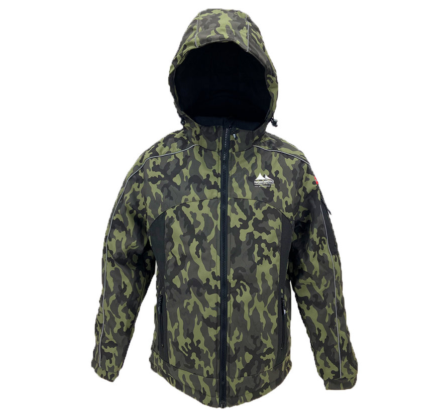 Nordberg OLE - Winterjas - Heren - Groen camouflage - Maat XL