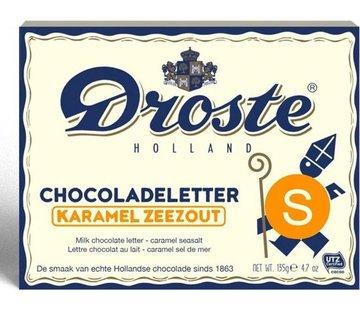 Droste Droste Chocoladeletter Karamel Zeezout 135 gram | Letter S