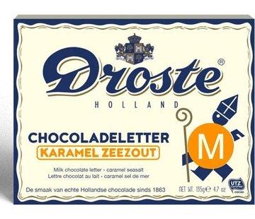 Droste Droste Chocoladeletter Karamel Zeezout 135 gram | Letter M