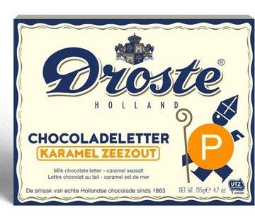 Droste Droste Chocoladeletter Karamel Zeezout 135 gram | Letter P