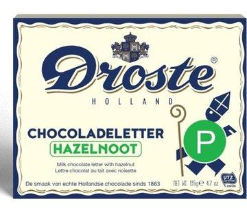 Droste Droste Chocoladeletter Hazelnoot 135 gram | Letter P