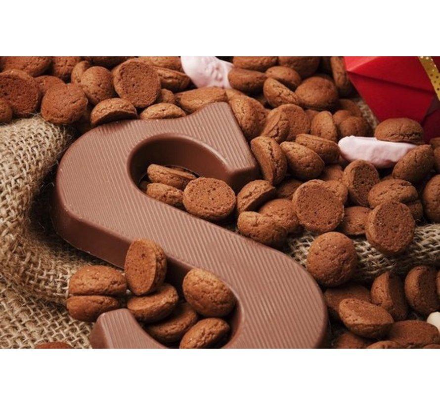 Droste Chocoladeletter Hazelnoot 135 gram | Letter M