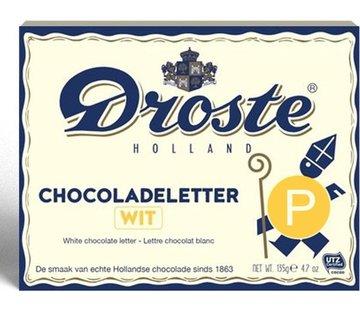 Droste Droste Chocoladeletter Wit 135 gram | Letter P