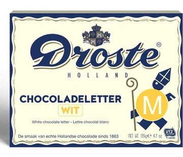 Droste Droste Chocoladeletter Wit 135 gram | Letter M