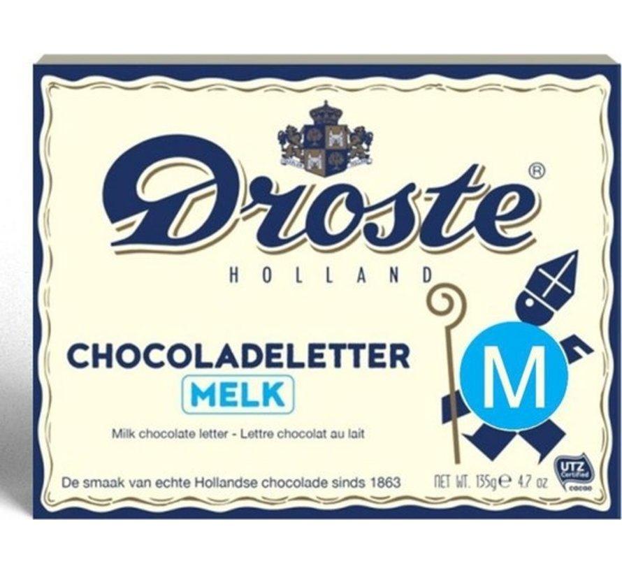 Droste Chocoladeletter Melk 135 gram | Letter M