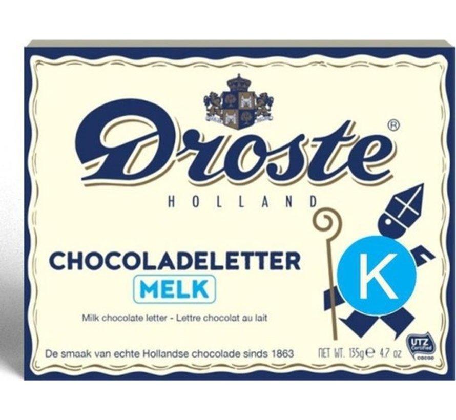 Droste Chocoladeletter Melk 135 gram | Letter K