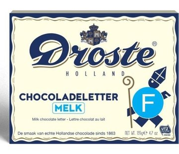 Droste Droste Chocoladeletter Melk 135 gram | Letter F
