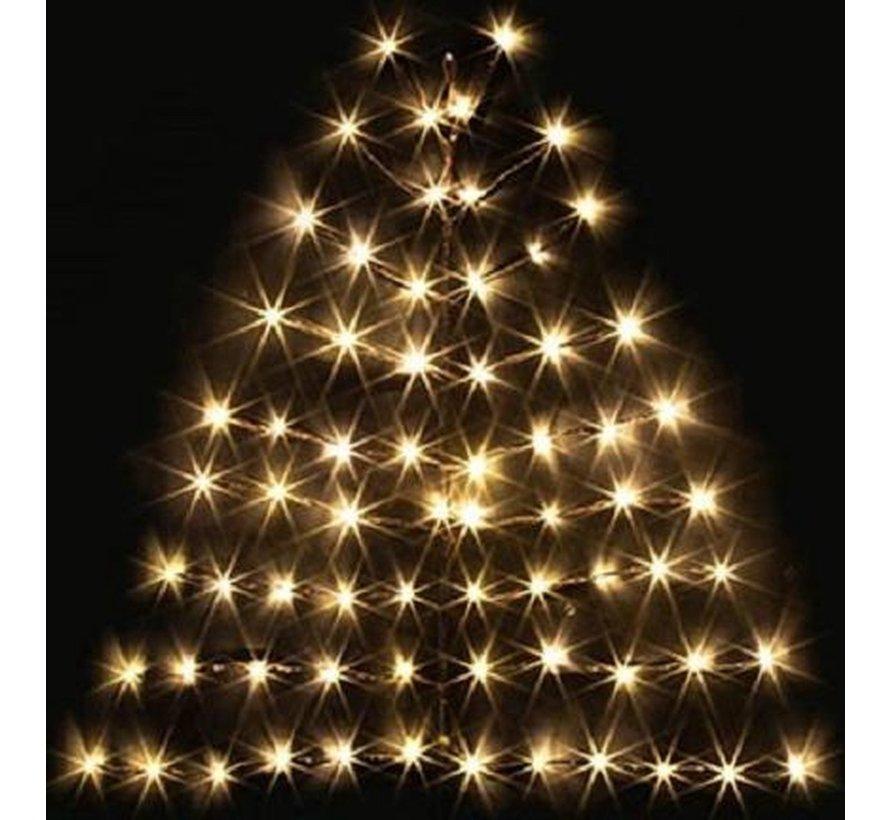 Countryfield LED-boom Kerstboom van LED-verlichting voor aan de muur 80 x 100 cm   68 LED's