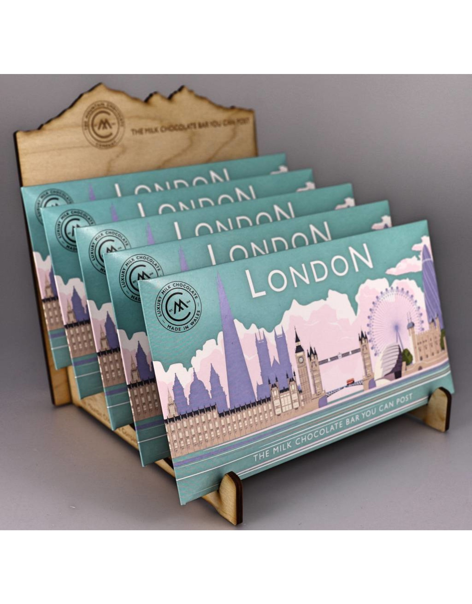 The Chocolate Bar You Can Post - London Skyline - Trade Box of 20