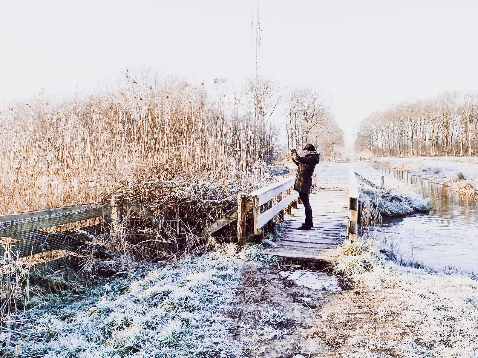 Een prachtige ochtendwandeling met de honden door winter wonderland