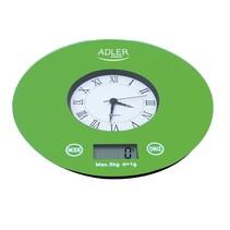 Adler AD 3144 - Keukenweegschaal met klok - groen