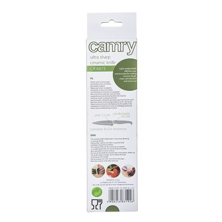 Camry Camry CR 6673 - Keramisch mes - groen - 7.5 cm