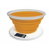 AD 3153o - Keukenweegschaal met siliconen kom - oranje