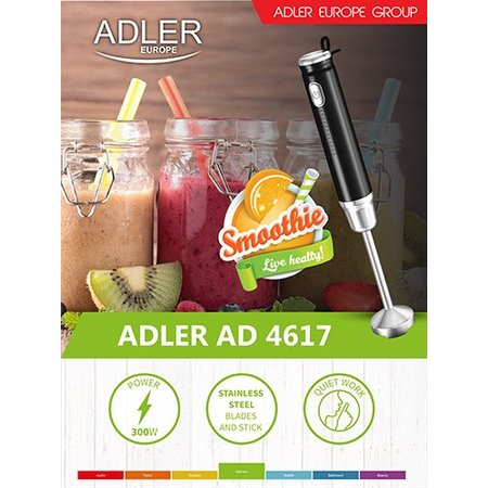 Adler Adler AD 4617 - Staafmixer - 300 Watt - zwart