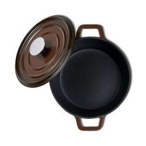 "Kustaa gietijzeren casserole pan 20cm rond ""Brown"""