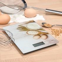 16206 - Keukenweegschaal - digitaal - glas - doorweeg optie